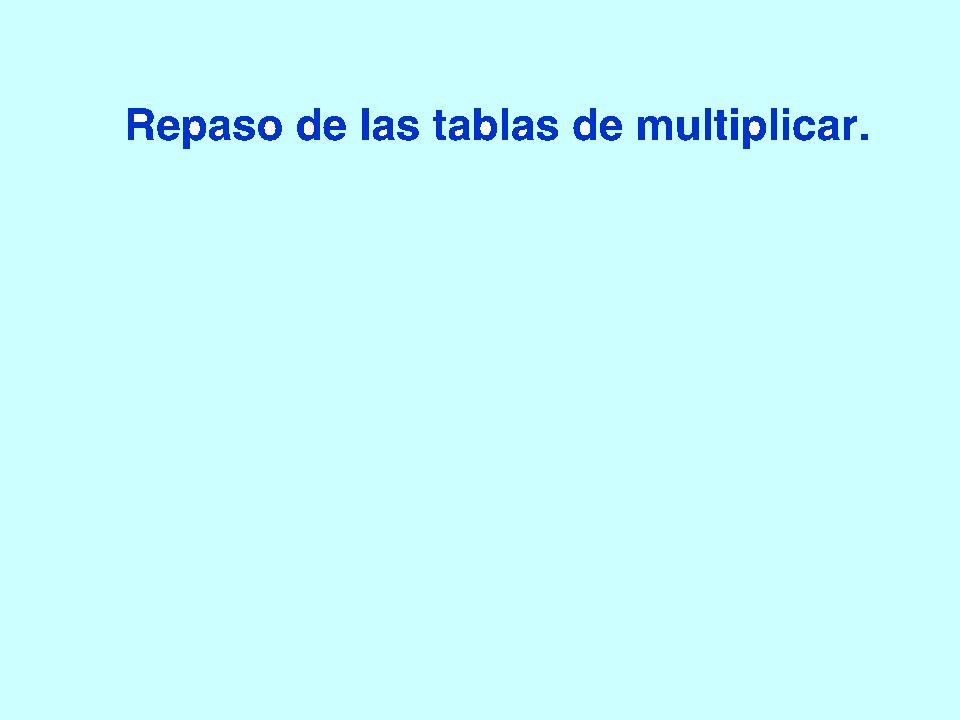 Las tablas de multiplicar repaso con Scratch