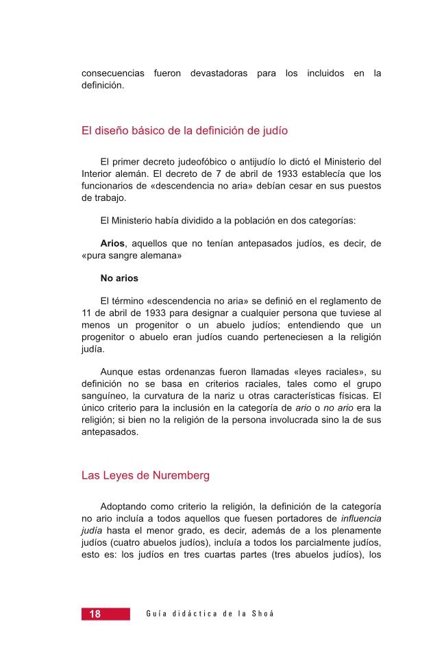 Página 18 de la Guía Didáctica de la Shoá