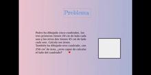 SECUNDARIA - 1º ESO B - PROBLEMAS CON POTENCIAS Y RAÍCES - MATEMÁTICAS