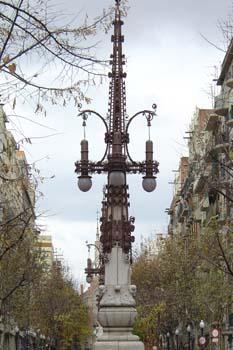 Farola, Avenida Gaudí, Barcelona