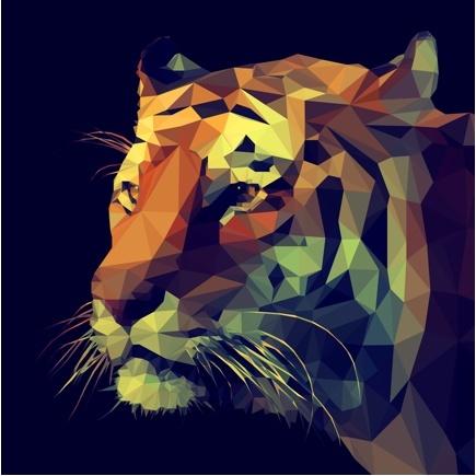 Cabeza de tigre cromática