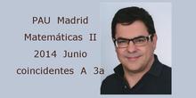 PAU Matemáticas II 2014 Junio coincidentes A 3a Geometría