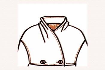 Cuello chimenea drapeado