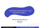 Dando la vuelta a las matemáticas II - iEDU2019