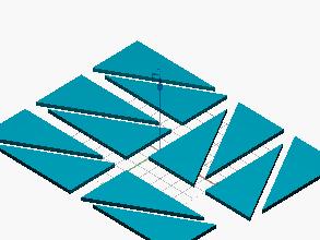 Triángulos constructivos (Montessori) pequeños