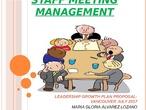 Management meetings.  Mª Gloria Álvarez