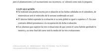 Hoja de inicio de curso Matemáticas Nivel I distancia, Joaquín Sorolla
