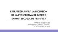 Estrategias para luchar contra la desigualdad de género en un colegio de primaria