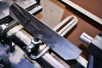 Soporte en un torno de carpintero