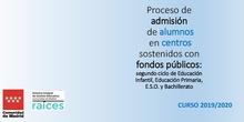 Proceso de admisión de alumnos en centros sostenidos con fondos públicos_Curso 2018-20119_CEIP FDLR_Las Rozas