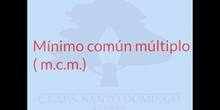 PRIMARIA 6º -  MÍNIMO COMÚN MÚLTIPLO - MATEMÁTICAS - FORMACIÓN - DENIS
