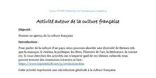 Activité autour de la culture française