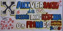 Acto institucional del X Aniversario de la Sección Lingüística en Francés
