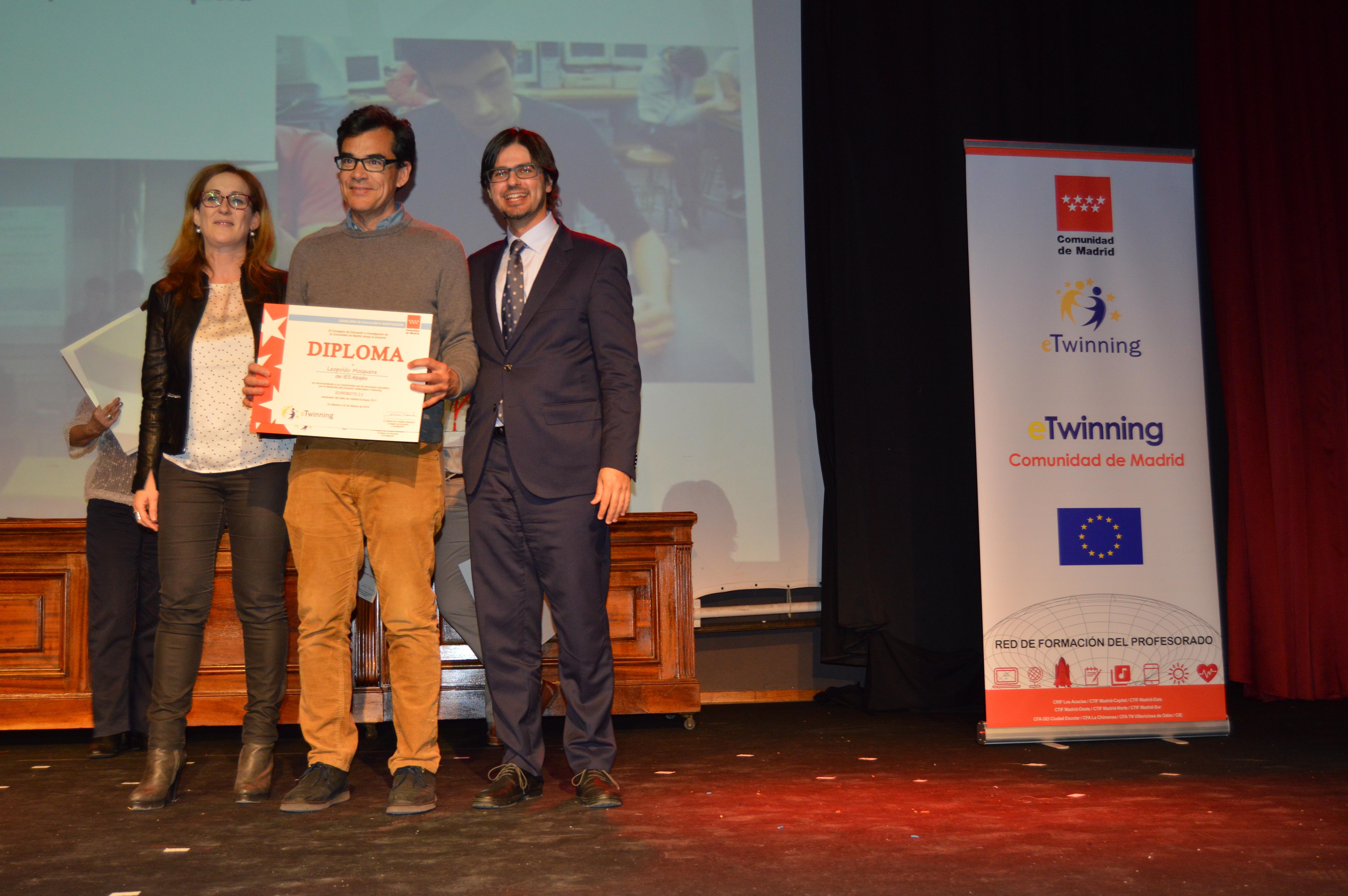 Entrega diplomas II Edición Reconocimiento Sellos de Calidad eTwinning Comunidad de Madrid 11