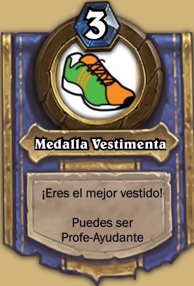 Medalla Vestimenta