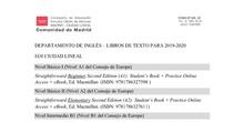 libros de texto EN CL 2019