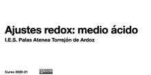 Ajustes redox en medio ácido - Contenido educativo