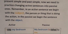 ENGLISH WHIT SARAH: CHANGING ACTIVE TO PASSIVE
