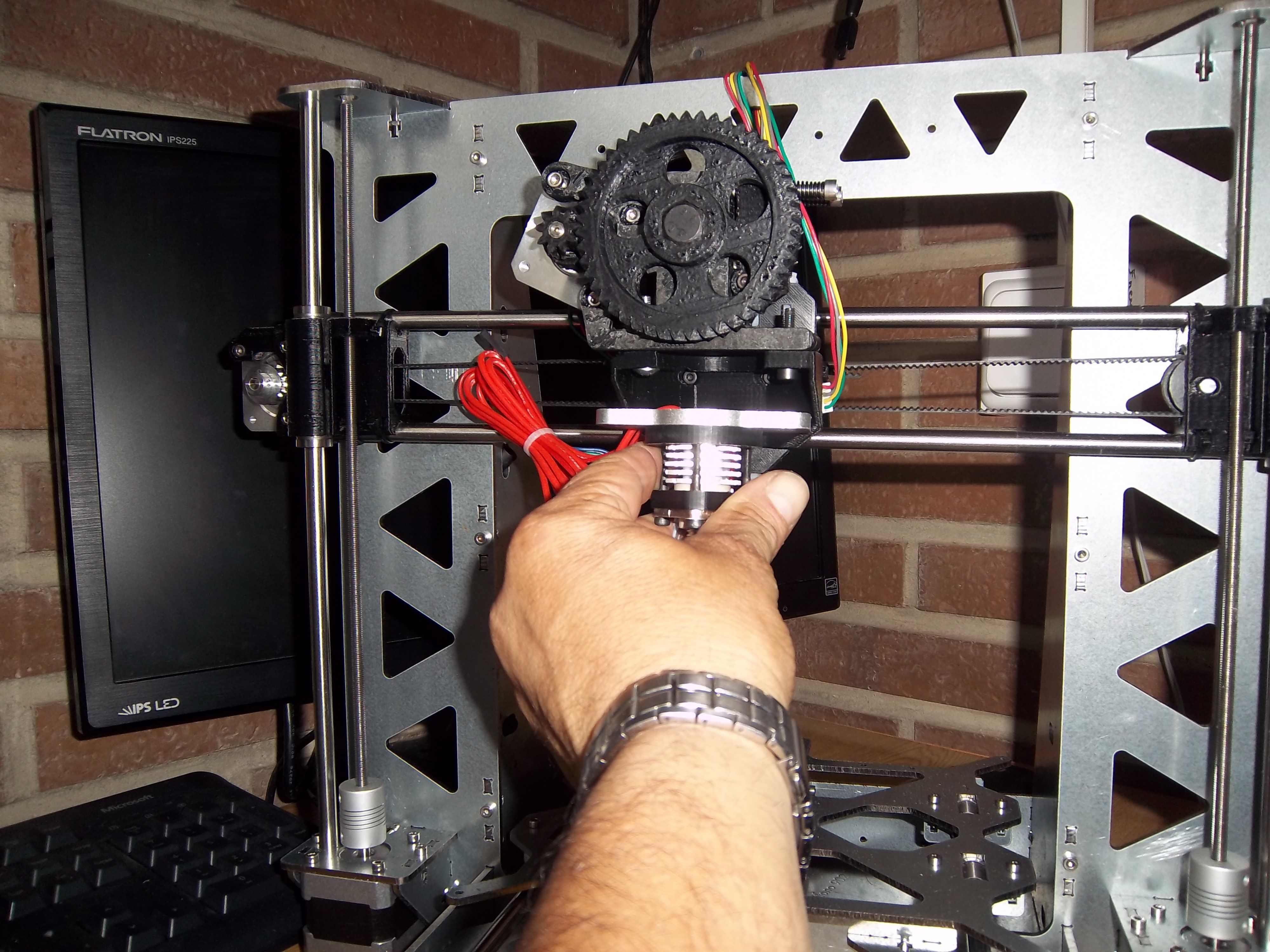 Montaje del extrusor de impresora 3D