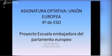 VIDEO EXPLICATIVO SOBRE LA ASIGNATURA OPTATIVA UNIÓN EUROPEA