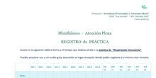 Registro de práctica mindfulness. Seminario Atención plena y Fortalezas personales. IES Salvador Dalí. Curso 2020-21