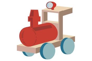 Locomotora de juguete