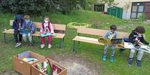 Leemos en el huerto