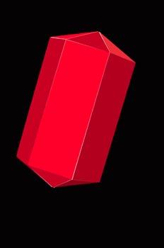 Combinación de prisma y dipirámide hexagonal