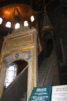 Minbar (púlpito) de la mezquita de Santa Sofía, Estambul, Turquí