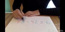 Resta en horizontal de nº de 2 cifras
