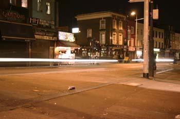 Camden Highway de noche, Londres