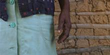 Mano y brazo de una mujer de Quilombo, Sao Paulo, Brasil