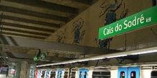 Estación de metro Cais de Sodré, Lisboa, Portugal