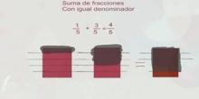 ESO_1º_Suma de fracciones con mismo denominador_ Matemáticas_Alex Rustad