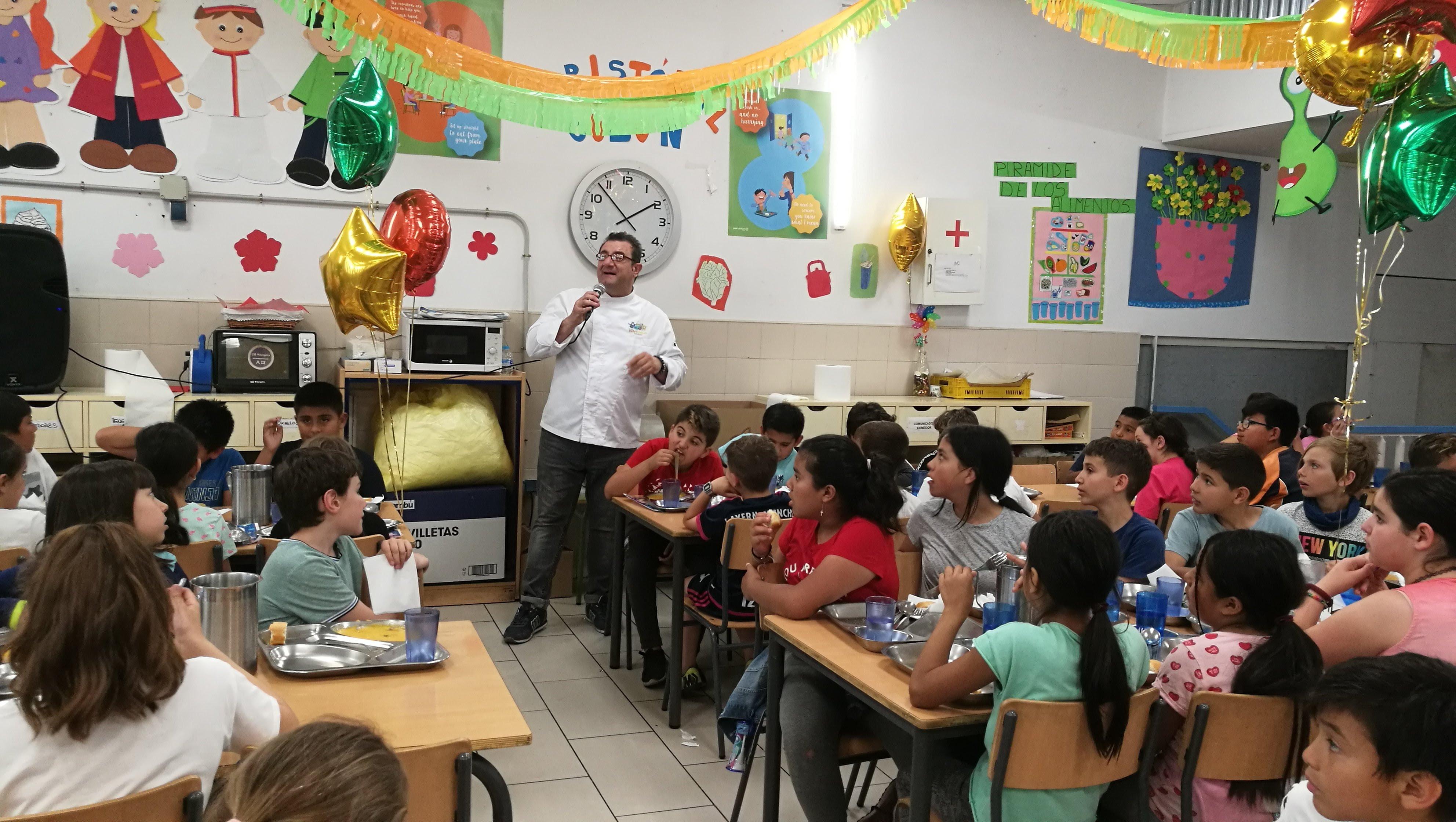 Visita del chef Sergio Fernández - Nutrifriends en el Comedor 13
