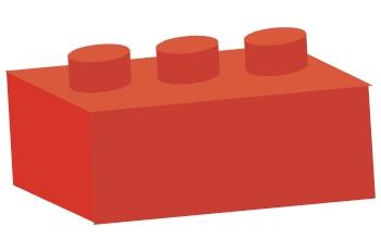 Pieza de arquitectura roja