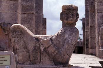 Estatua de Chac-Mool, Chichén Itzá, México