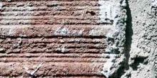 Pared de ladrillo con cemento