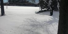 Nuestro instituto tras la nevada del 7 de Enero