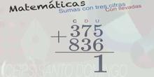 2EP Suma tres cifras con llevadas