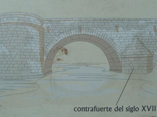 Puente romano de Mérida (esquema)
