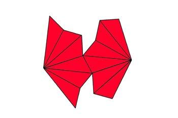 Desarrollo de un escalenoedro ditrigonal