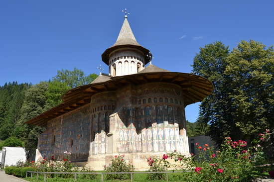 El Monasterio de Voronet.Iglesias pintadas de Bucovina. Ruman&ia