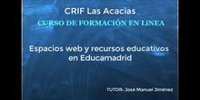 Presentación  del curso Espacios web y recurso educativos en Educamadrid
