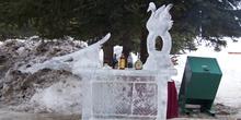 Escultura de hielo, Hotel Fairmont Chateau, Lago Louise, Parque