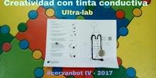 """#cervanbot IV: """"Creatividad con tinta conductiva 2"""" con Ultra-lab (grabaciones realizadas por alumn@s)"""