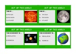 SOLAR SYSTEM BOARD GAME GREEN CARDS