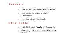 Programa del acto de clausura del XIV Concurso de Coros Escolares de la Comunidad de Madrid 1
