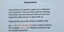 ENGLISH WITH SARAH : QUESTION TAGS