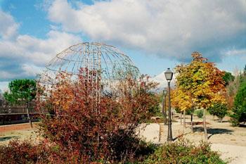 Elemento decorativo en parque